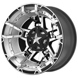 4 18 Inch Xd827 Rockstar 3 18x9 8x170 0mm Black mach chrome Split Wheels Rims