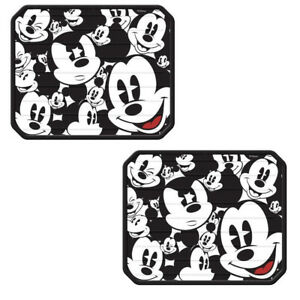 2pc Set Mickey Mouse Expressions Car Truck Utility Rear Rubber Vinyl Floor Mats