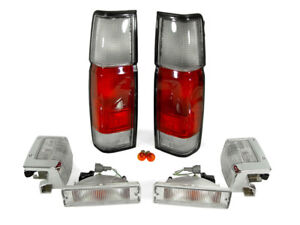 Depo Red Clear Tail Corner Lights For 1990 1997 Nissan Hardbody Pickup Truck