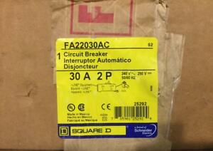 Square D Fa22030ac 30a 2 pole I line 240v Circuit Breaker New In Box