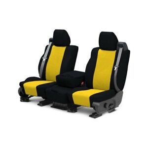 For Mg Mgb 73 80 Caltrend Tweed 1st Row Black Yellow Custom Seat Covers