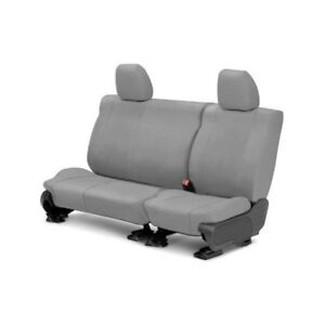 For Toyota Previa 91 93 Caltrend Tweed 2nd Row Light Gray Custom Seat Covers