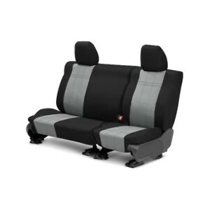 For Toyota Previa 91 93 Duraplus 2nd Row Black Light Gray Custom Seat Covers