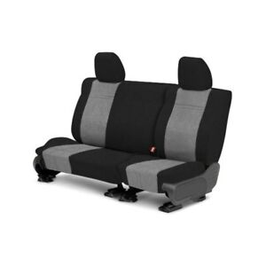 For Toyota Previa 91 93 Microsuede 2nd Row Black Light Gray Custom Seat Covers