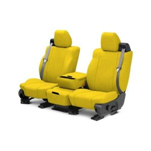 For Toyota Pickup 89 95 Caltrend Tweed 1st Row Yellow Custom Seat Covers