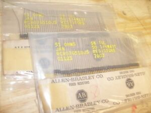Lot 100 Allen Bradley Jan Resistor 51 Ohm 1 4 Watt 5 Original Package Nos