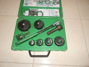 Greenlee 7238 Sb Knockout Punch Set 1 2 To 2 Slug Buster Punches