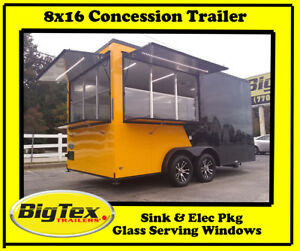 New 2019 8x16 Concession Trailer With A c Elec Glass Service Windows