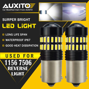 2x Auxito Ba15s 1156 P21w 7506 Reverse Back Up Light Super White Led Bulb Ea