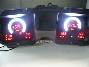 1968 Chevelle Digital Dash Panel Red And White Led Gauges Lifetime Warranty