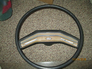 1982 Ford F 150 Hard Rubber Steering Wheel W brown And Cruise 1980 To 1986