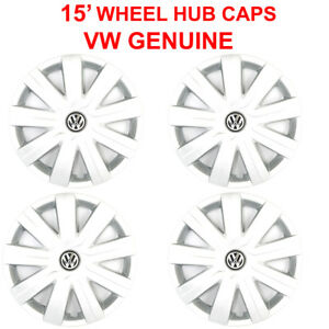 Vw Genuine 15 Wheel Hub Cap Kit 4pcs For Jetta 2015 2018