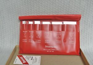 1097 Starrett No s154lz Set Of 6 Adjustable Parallels In The Case Mint