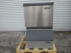 Scotsman Cme256as 1f Air Cooled Cubed Ice Machine W Bin 307lb day