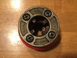 Rigid 1 2 Inch Pipe Threader Die Head