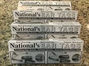 Ear Tags Metal Cattle Id Tag s National s 49 56 New 4 Pack