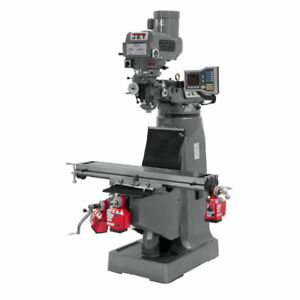 Jet 690417 Jtm 4vs Mill With Acu rite Vue Dro With X Y And Z axis Powerfeeds