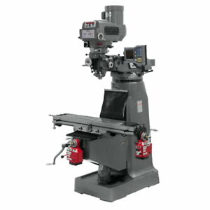 Jet 690416 Jtm 4vs Mill 3 axis Acu rite Vue Dro quill X Y axis Powerfeed
