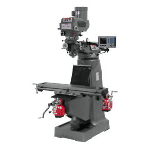 Jet 690413 Jtm 4vs 1 Mill 3 axis Acu rite Vue Dro quill X Y axis Powerfeed
