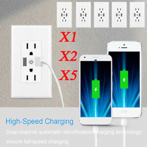 Timer Switch Wifi Smart Socket 2 usb Outlet App Remote Voice Control By Alexa B1