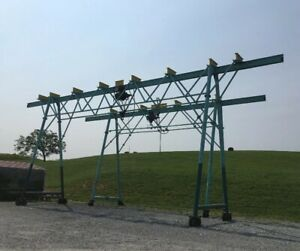 Rolling Gantry Crane 3 Ton Overhead Lift 30 Or 50 Long Used Working