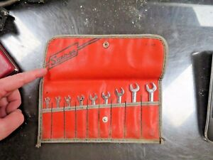 Snap On 9 Piece Wrench Set 1 8 3 8 Sae Used