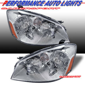 Set Of Pair Oe Style Headlights Halogen Ver For 2005 2006 Nissan Altima