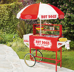 Hot Dog Stand Cart Vintage Food Concessions Commercial Parties Equipment Machine