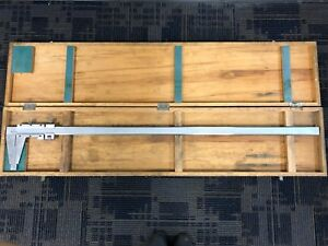 Used Mitutoyo Vernier Caliper 0 1000mm metric 40inch Heavy Set