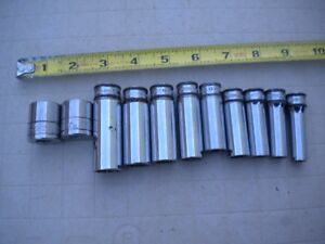Snap On Blue Point 3 8 Metric Socket Set Lot Mixed Oddball 11 Pc Good Cond