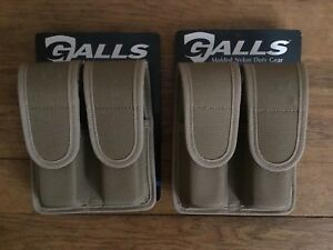 Galls Lot 2 Molded Nylon Duty Gear Double Staggered Mag Pouch Np 490des New