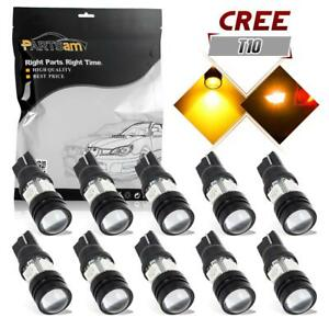 2pcs T10 T15 921 Real Cree Led Backup Reverse Light Amber Lamp Bulbs Replacement