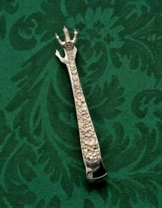 Repousse By S Kirk Son Small Sugar Tongs Sterling Silver 3 25
