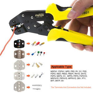 Jx d5301s Wire Crimper Kit Engineering Ratcheting Terminal Crimping Pliers K0m9