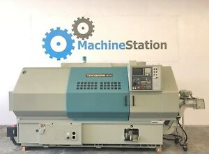 Takisawa Tw 46 Cnc Long Bed Turning Center Lathe 15 Chuck Haas Mori Okuma Sl