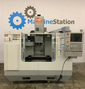Haas Vf 1d Vertical Machining Center 4th Axis 10000 Rpm 20hp Vmc Vf 2