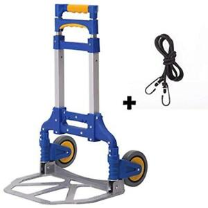 Portable Hand Trucks Folding Aluminum Luggage Carts Dolly Heavy Duty
