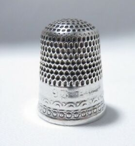 Antique Late 1800s Sterling Silver Sz 9 Thimble Holes