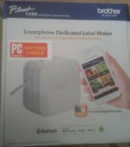 Brother P touch Cube Smartphone Label Maker Bluetooth Wireless Technology White
