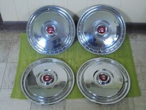 55 56 Ford Hub Caps 15 Set Of 4 Wheel Covers Hubcaps 1955 1956