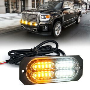 White Amber 20 Led Side Marker Strobe Mini Light Bar For Truck Pickup Emergency