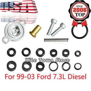 Fuel Relief Pressure Spring Seal Kit For 7 3l 7 3 Powerstroke Diesel Ford 99 03