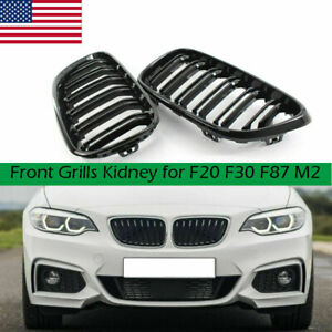 Gloss Black Front Grill Grille For Bmw 2 Series F23 F22 F87 M2 M235i 228i 2014