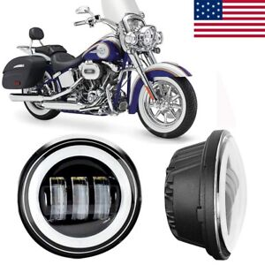 4 1 2 4 5in 60w Cree Led Fog Light Passing Lamp For Harley Davidson Motorcycle