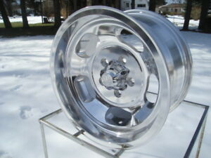 1 15x8 New Us Mags polished Slots 5 On 4 75 Bp Gm Chevelle Buick Ect