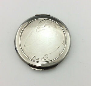 Vintage Georg Jensen Sterling Silver Powder Compact No 277a 1948
