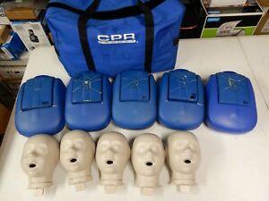 Lot Of 5 Child Infant Baby Cpr Prompt Cpr Aed Training Manikin W Bag r939