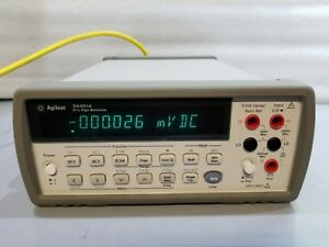 Hp Agilent 34401a Digital Multimeter 6 Digit With Probes