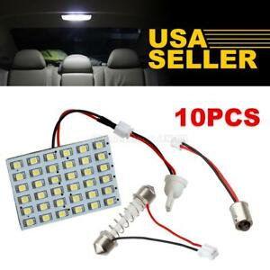 10x Universal White 36 Smd Led Interior Lights Dome Map Trunk Cargo Replace Lamp