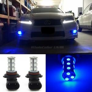 2x Blue 18 5050 Smd 1 Cree Xpe Super Bright Led Projector Fog Driving Light 9006